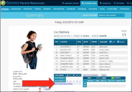 Log Student Attendance in the Genesis Parent Portal