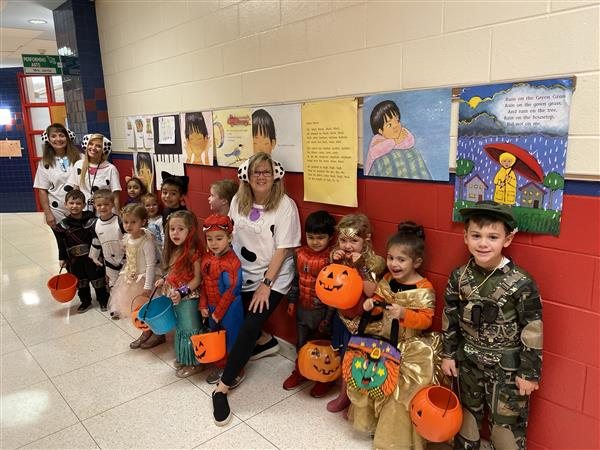 Halloween Trick-or-Treating fun with our preschool friends!